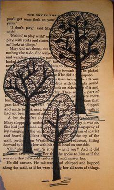 original book page art