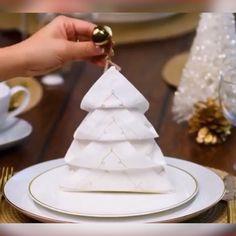 Napkin Folding Ideas 😘Creative Napkin Folding Ideas 😘 DIY NapkinFolding NapkinFoldingIdeaNapkin Folding Heart - How to Fold a Napkin Into a Heart - Table Setting Idea - .Napkin Folding Heart - How Fancy Napkin Folding, Wedding Napkin Folding, Wedding Napkins, How To Fold Napkins, Napkin Folding Video, Wedding Plates, Christmas Tree Napkin Fold, Christmas Napkins, Folding Napkins For Thanksgiving