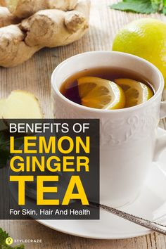 For more than 2000 years lemon and ginger are a part of medicinal practices. Theyre basically used for preventing and treating countless health issues. Besides boosting energy circulation in your body it enhances the bodys metabolic rate. Both ginger Detox Drinks, Healthy Drinks, Healthy Nutrition, Healthy Detox, Child Nutrition, Ginger Lemon Tea, Ginger Tea For Nausea, Lemon Ginger Detox Water, Ginger Drink