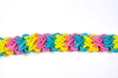 Rainbow Loom® Double X Bracelet with video