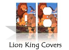 Lion King Disney Light Switch Covers Wallplates Switchplates Home Decor Outlet 14 STYLES AVAILABLE. $6.50, via Etsy.