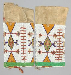 A PAIR OF SIOUX WOMAN'S BEADED HIDE LEGGINGS. c. 1900... (Total: | Lot #50170 | Heritage Auctions
