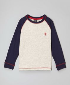 Look at this #zulilyfind! Oatmeal Heather Raglan Tee - Boys #zulilyfinds