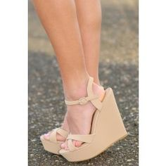 Simply Strapped Wedge - $38.00