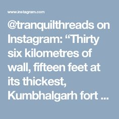 """@tranquilthreads on Instagram: """"Thirty six kilometres of wall, fifteen feet at its thickest, Kumbhalgarh fort that lies on the borders of the medieval kingdoms of Mewar and Marwar. Built by Rana Kumbha, the fort holds within its walls stories of Human sacrifice and kings who were 7ft tall. Rajasthan has been a revelation. #cyclinginindia #rajasthan #tourguide #getunventured"""""""
