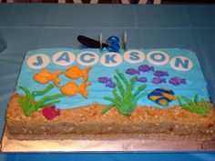 Fishing Themed Birthday Party Cake