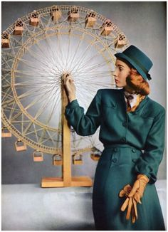 Glamour, September 1945. Photographer Clifford Coffin.