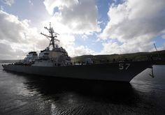 Split, Croatia Welcomes USS Mitscher. Arleigh Burke-class guided-missile destroyer USS Mitscher (DDG 57) arrived in Split, Croatia, for a scheduled port visit April 12, 2015.  The port visit serves to strengthen ties between the U.S. and Croatia and improve relations as the two nations work together for a stable, secure and prosperous region.  This port visit will also provide the crew of Mitscher with an opportunity to meet with the people of Split and to experience the rich history and…