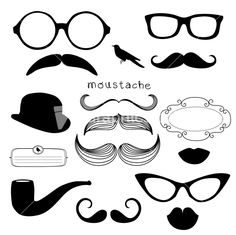 Download Retro Party Set - Sunglasses Stock Image and other stock images, photos, icons, vectors, backgrounds, textures and more.