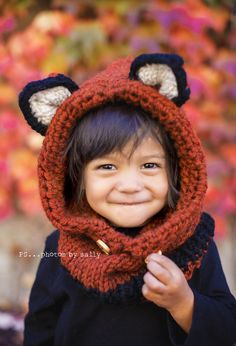 1000+ images about knitted animal kid hats/cowls on ...