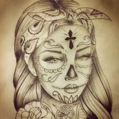 beautiful skull tattoos for women Symbol Tattoos, Leg Tattoos, Body Art Tattoos, Sleeve Tattoos, Garter Tattoos, Crown Tattoos, Heart Tattoos, Tattoo Design Drawings, Tattoo Sketches