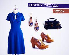 Fashion by Disney Decade: 1930's outfit inspiration | Vintage fashion | [ https://style.disney.com/fashion/2016/04/28/fashion-by-disney-decade-30s-40s-and-50s/ ]