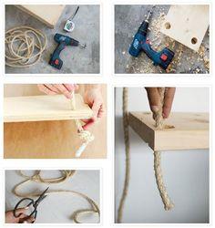 The Deco Soul: DIY: Estanterías Colgantes #DiarioDeco13