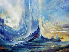 'Shores of heaven' by Rassouli (http://www.rassouli.com/painting3.htm)