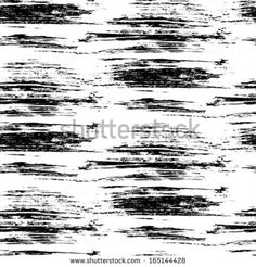 Grunge, hand painted black and white pattern inspired by birch tree bark. - this would be great hand painted on canvas and hung like a curtain in men's window