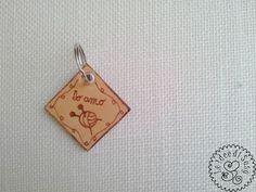 Portachiavi+Cuoio+(Io+amo+la+maglia)+di+Le+idee+di+Susy+su+DaWanda.com
