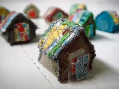 Anything Goes Tiny House Swap Gallery - ORGANIZED CRAFT SWAPS - Swap ThreadBlue - Sent package. Fabric Art, Fabric Crafts, Paper Crafts, Diy Crafts, Handmade Beads, Handmade Home, Sewing Projects, Craft Projects, Sewing Ideas