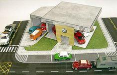 PAPERMAU: Volkswagen Dealership Paper Model - by Paper House...
