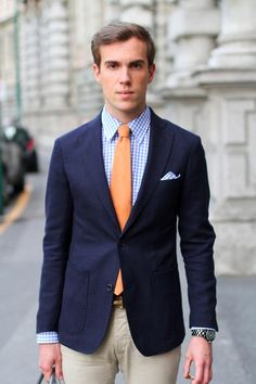 love. gingham with matching pocket square