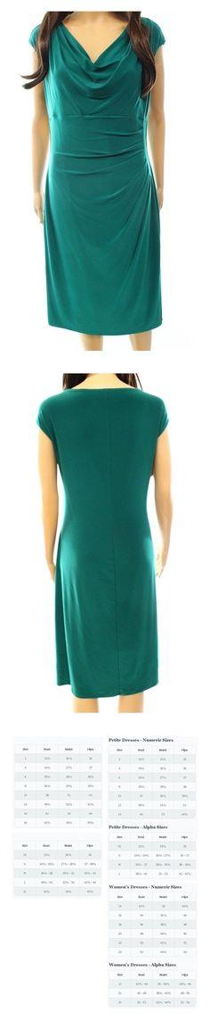 b2e233ad Lauren Ralph Lauren Women's Sheath Drape-Neck Dress Green 6 #ralphlauren  Green Dress,