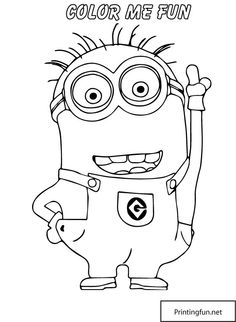 despicable me 2 minion pointing up coloring page inspiration for digital stamp