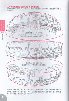 Infographic. The head in various positions. src via mekquake