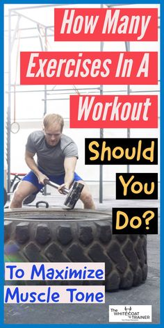 In this post, youll learn how many exercises in a workout you need to do to maximize muscle tone. Youll also learn how many sets and reps you should do and how many workouts you should do per week! Best Gym Workout, Workout Songs, Biceps Workout, Workout Exercises, Workout Tips, Weight Lifting Workouts, Strength Training Workouts, Fit Board Workouts, Fun Workouts