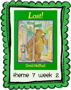 HM Theme 7 Week 2 (Lost!) printable story map and writing paper.