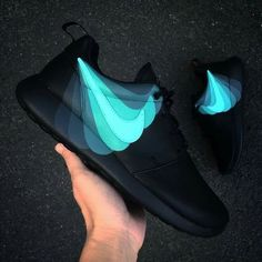 nike, black, and blue image