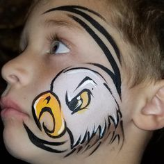 """Holly Lewis -Face Paint Fever- on Instagram: """"Not perfect, but it's identifiable. 🤣 🦅design cred: @fairyfoxdesign check out her YouTube channel tutorials!! (Laura Pennock)…"""" Holly Lewis, Channel, Tutorials, Face, Youtube, Check, Painting, Instagram, Design"""