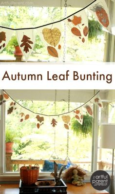 to Make An Autumn Leaf Bunting With Leaves & Wax Paper A tutorial to make a no-sew autumn leaf bunting that is both ethereal and earthy.A tutorial to make a no-sew autumn leaf bunting that is both ethereal and earthy.