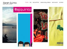 Sarah Quinto's portfolio: http://sjquinto.wix.com/portfolio