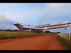 RS Notícias: Cenas Fortes: Acidente Aéreo Aerosucre Boeing 727 ...