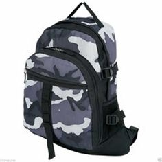 "10"" x 18"" Extreme Pak™ Black and Gray Urban Palette Backpack #ExtremePak #Backpack #Camo #Bookbag #School"