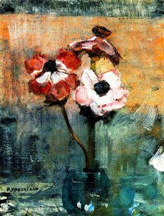 Анемоны в вазе Пита Мондриана (1892 - 1944)