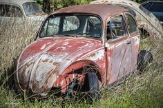 https://flic.kr/p/GvayEc | VW Bug | Abandoned VW in a field in Oklahoma.