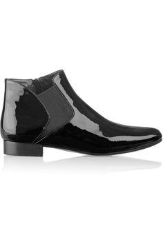 Miu Miu|Patent-leather ankle boots|NET-A-PORTER.COM