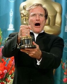 """Academy Awards® ~ Robin Williams ~ – winner of the Best Supporting Actor Oscar® for his performance in """"Good Will Hunting"""" (Won 1 Oscar. Another 61 wins & 73 nominations) Academy Award Winners, Oscar Winners, Academy Awards, Actor Secundario, Best Actor, Robin Williams Movies List, Oscars, Oscar Films, The Fisher King"""