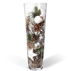 Kugelvase Anticipation – order now from Valentins - Weihnachten Silver Christmas Decorations, Christmas Centerpieces, Christmas Ornaments, Valentine Decorations, Winter Christmas, Christmas Home, Christmas Inspiration, Holiday Crafts, Send Flowers