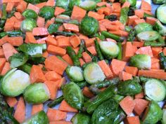Roasted Veggies and Pistachios #whole30