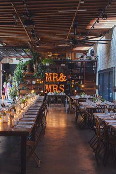 Smog Shoppe Wedding from Sitting in a Tree Events Mod Wedding, Wedding Reception, Rustic Wedding, Wedding Venues, Dream Wedding, Wedding Day, Wedding Barns, Copper Wedding, Wedding Letters