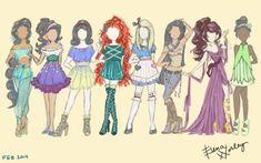 Disney Fashion Part 2 by Ellphie on DeviantArt