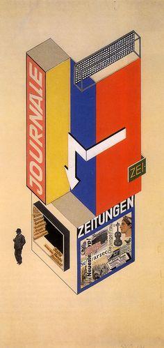 Herbert Bayer   projet de kiosque a journaux (1924)