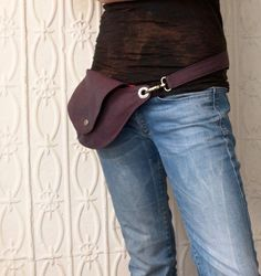 Purple Belt Bag Hip Bag Fanny Pack by rocksandsalt on Etsy, $64.00