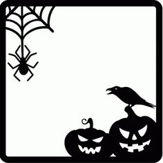 halloween frame--------------------------------I think I'm in love with this shape from the Silhouette Design Store!