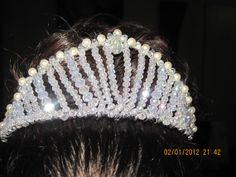 Pearl and Crystal Princess Handmade Tiara by CassysJewels on Etsy, $40.00