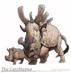 Catoblepas by M0AI on deviantART