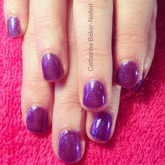 CND Shellac Grape Gum with Sea Glass Additive ☀ holiday nails ☀#cnd #shellac #glitter #sparkle #summer #holidays #instanail #purple #grape