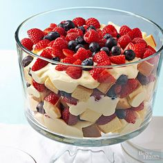 Even though the batter starts out on the bottom, the fluffy cake ends up on top of the berries.