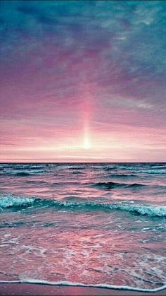 Rose pink sunset and blue and purple ocean colors. – Jérôme DURAND – Rose pink sunset and blue and purple ocean colors. Purple Sunset, Pink Purple, Pink Sky, Ocean Sunset, Ocean Beach, Pastel Sunset, Ocean Pics, The Ocean, Purple Art